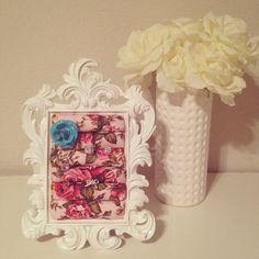 Shabby chic baroque ring frame  on Etsy, $35.00