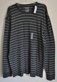Men's Old Navy sweatshirt Gray striped size XXL long sleeve 100% cotton #OldNavy #Casualthinstyleshirt