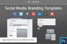 Facebook Cover and Social Media Branding Templates , with info on impressum…