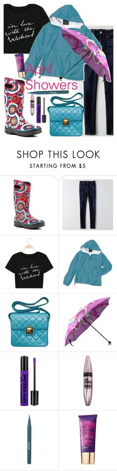 """""""Wednesday's woes"""" by elliewriter ❤ liked on Polyvore featuring Bogs, American Eagle Outfitters, Chanel, NYX, Maybelline, Stila and tarte"""