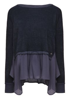 khujo Damen Sweatshirt ALUMINIUM 1498SW153_450 450 NAVY, S