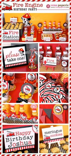 Dalmatian Fire Fighter Birthday Party Package by venspaperie