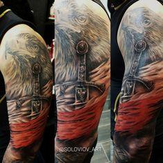 Viking Tattoos, Lion Tattoo, Aga, Eagles, Sleeve Tattoos, Sword, Cancer, Sleeves, Sword Tattoo