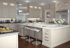 Kitchen Bishop inset shaker cabinets - contemporary - kitchen cabinets - philadelphia - by Main Line Kitchen Design Kitchen Cabinets Brands, Shaker Style Kitchen Cabinets, Contemporary Kitchen Cabinets, White Shaker Cabinets, Contemporary Kitchen Design, Kitchen Cabinet Design, Kitchen Cabinetry, Kitchen Decor, Kitchen Ideas