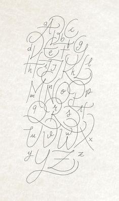 Hand Lettering Alphabet, Alphabet Design, Typography Letters, Brush Lettering, Simple Calligraphy Alphabet, Calligraphy Signs, Graffiti Alphabet, Islamic Calligraphy, Fond Design