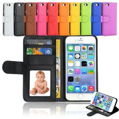 Luxury Flat Leather Flip Stand Wallet Case Cover For Apple iPhone 6 6S Plus 5.5 #UnbrandedGeneric