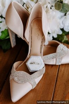 Wedding shoes ideas - blush, glam, heels, elegant, romantic, spring {Lyndsey Marie Photography}