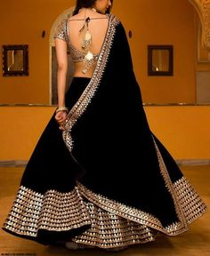 RE - Decent black georgette embroidered lehenga - New In - Indian