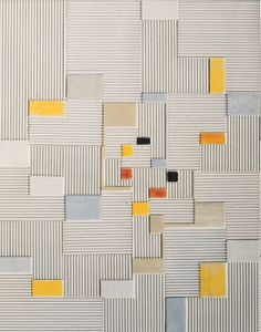 "design-is-fine: "" Adolf Richard Fleischmann, Relief painting Oil and corrugated board on canvas. "" design-is-fine: "" Adolf Richard Fleischmann, Relief painting Oil and corrugated board on canvas. Tile Patterns, Textures Patterns, Blanket Patterns, Quilting Patterns, Embroidery Patterns, Quilt Modernen, Art Abstrait, Geometric Art, Geometric Wallpaper"