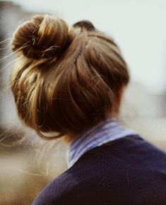 Another lovely messy high bun!