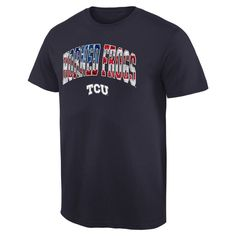 TCU Horned Frogs Banner Arch T-Shirt - Navy