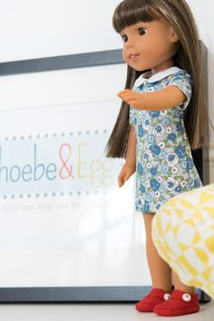 Wellie Wishers Doll Sewing Pattern Collection: Learn the basics of doll dress sewing with this pattern set.  Phoebe&Egg