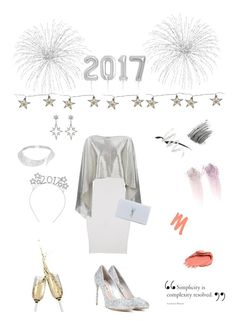 """Happy New Year!🎆❤️🎈❤️🎊"" by campanellinoo ❤ liked on Polyvore featuring ISABEL BENENATO, Damsel in a Dress, Parlane, Yves Saint Laurent, Miu Miu, Apples & Figs, Messika, NARS Cosmetics, Urban Decay and Topshop"