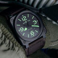 BR 03-92 NIGHTLUM by4 Bell & Ross #men #watches #strap #watch #accessory