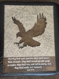 Eagle and scripture string art