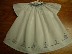 Sailboat Wee Care gown