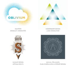 Rays logo trend examples Polivanov: line drawing, one color, circular shape