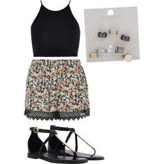 Summer Af by penguins-lily on Polyvore featuring polyvore fashion style River Island Topshop