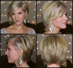 Life Songs Of A Busy Mom: My Winter 2014-15 Asymmetrical Bob; Curly and Straight.