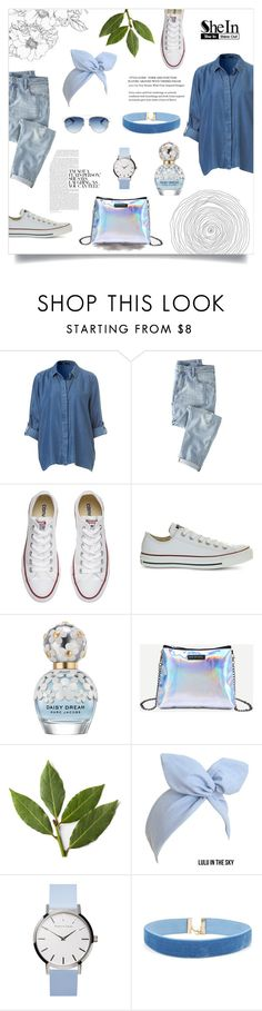 """""""SHEIN contest - Silver Bag With Chain Strap"""" by jacqui-huang ❤ liked on Polyvore featuring Wrap, Converse, Marc Jacobs and Christian Dior"""