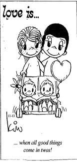 Who knew so much love between two people can create 2 human beings at once. - Who knew so much love between two people can create 2 human beings at once. Twin Mom, Twin Girls, Twin Babies, Baby Twins, Twin Twin, Love Is Cartoon, Love Is Comic, Marriage Relationship, Love And Marriage