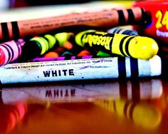 Crayons, White, Color, Children