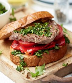 This classic steak sarnie is given an Argentinian spin through the addition of some spicy chimichurri sauce. Juicy, meaty and full of fresh flavour, it's a great crowd-pleaser.   Tesco