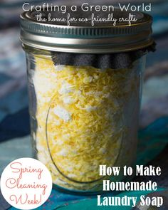 Homemade Laundry Soap Recipe–It's a Money-Saver!