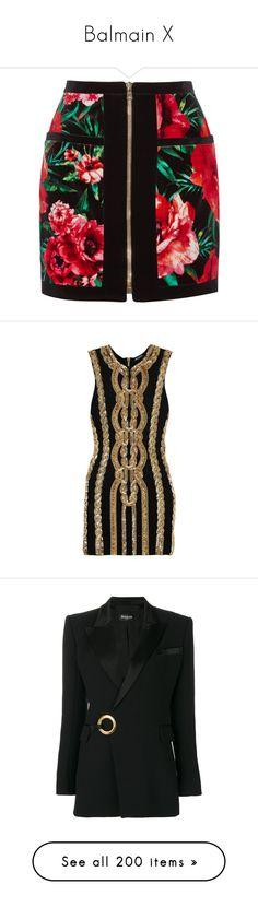 """Balmain X"" by bianca-cazacu ❤ liked on Polyvore featuring skirts, mini skirts, floral skirts, flower print skirt, multicolor skirt, balmain skirt, floral print skirt, dresses, balmain and black"