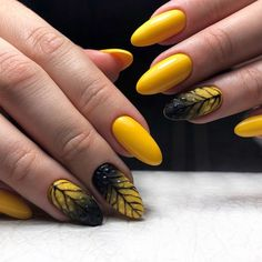 Spring outfit, spring hairstyles, of course, you need a modern spring nail art. We've collected 33 of the latest spring nail art designs that will keep you looking right all spring. Spring Nail Art, Spring Nails, Gradient Nails, Acrylic Nails, Trendy Nail Art, Autumn Nails, Yellow Nails, Simple Nails, Nail Designs