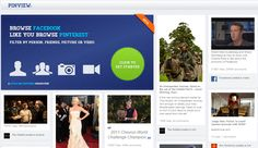 PinView - Here is an app that turns your Facebook wall and newsfeed to resemble Pinterest https://apps.facebook.com/pinviewer    I am not sure it's something I would use would you?