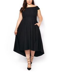 Every girl needs a pretty dress! Try this stylish plus-size dress boasting a…