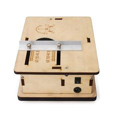 DIY Mini Table Saw Handmade Woodworking Model Saw With Ruler