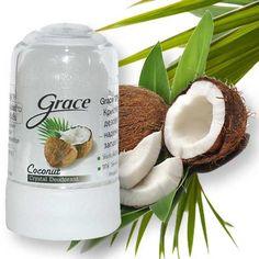 Déodorant pierre d'alun aux extraits de noix de coco Grace Crystal