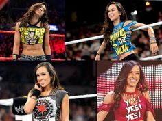The many shirts of Aj Lee... #WWE