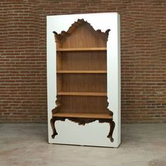 "InsideOut Bookcase White            by POLaRT                                   H 82.75"" W 46"" D 11.50""                       $2,675fab                      $3,512.10 retail price #UniqueFurniture"