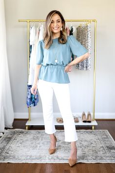 8 Spring Work Outfits | Petite Fashion | Pumps & Push Ups