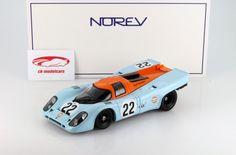 187580H: Porsche 917K #22 24h LeMans 1970 Hobbs / Hailwood 1:18 Norev, EAN 3551091875802 Hersteller: Norev Maßstab: 1:18 Team: John Wyer Automotive Engineering Fahrer: David Hobbs, Mike Hailwood Fahrzeug: Porsche 917K Serie: 24h LeMans Saison: 1970 Artikelnummer: 187580H EAN 3551091875802 Das Modell wurde in der gewohnt hochwertigen Norev-Qualität produziert und spiegelt das Original bestmöglich wieder.  Modellbesonderheiten:  Limited Edition exklusiv für ck-modelcars & Modelissimo