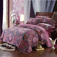 European rounded corners 4pcs  Palace Luxury bed linen silk bedding set tribute silk satin jacquard duvet cover sheet bedclothes