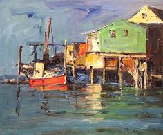 Monterey Wharf, oil. ©Nikki Basch-Davis, Plein Air Painter