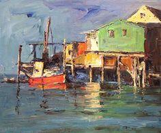 Monterey Wharf, oil. ©Nikki Basch-Davis, Plein Air Painter