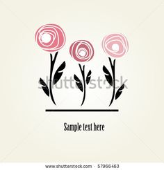 Floral card with abstract roses by mcherevan, via ShutterStock