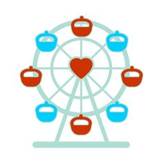 Ferris Wheel Cuttable Design  Cut File. Vector, Clipart, Digital Scrapbooking Download, Available in JPEG, PDF, EPS, DXF and SVG. Works with Cricut, Design Space, Sure Cuts A Lot, Make the Cut!, Inkscape, CorelDraw, Adobe Illustrator, Silhouette Cameo, Brother ScanNCut and other compatible software.