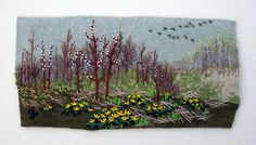 Jo Wood, another artist you might recognize from our shop, has taught classes in her wonderful beaded landscape embroidery.
