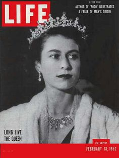 "Queen Elizabeth II - Life Magazine, February 18, 1952 issue - Visit http://oldlifemagazines.com/the-1950s/1952/february-18-1952-life-magazine.html to purchase this issue of Life Magazine. Enter ""pinterest"" at checkout for a 12% discount. - Queen Elizabeth II"