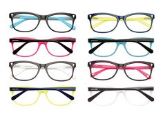 Nine West vintage-inspired optical styles with neon accents