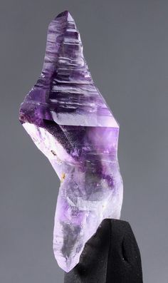 A rare form of a double terminated, reverse sceptre amethyst crystal from Harts Ranges, Australia