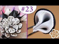 ▶ Двухсторонний лепесток Канзаши / Все лепестки Канзаши #23 / Kanzashi - YouTube