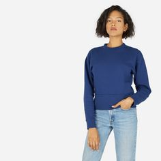 The Women's Classic Fleece Sweatshirt $45  81% cotton, 19% polyester—brushed fleece Machine wash cold, tumble dry low