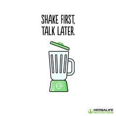 `Nuff said... #Mornings ☀️ #RiseandGrind ️ #ShakeFirst  #GoodHabitsNutrition #The8020Lifestyle